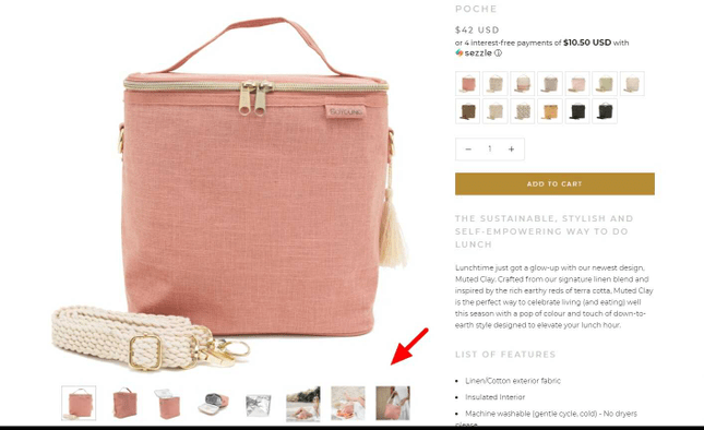 Example of product photos from SoYoung