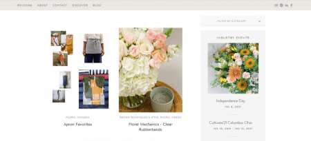 Floral Compass blog posts make great use of visuals
