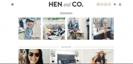 HEN & CO's gallery is great for showcasing your previous work.