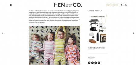 HEN & CO's blog posts place the focus on captivating content.