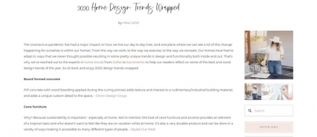 Styled Out West blog posts are simple and distraction-free.