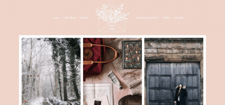 From Roses homepage uses tall graphics with beautiful photography.