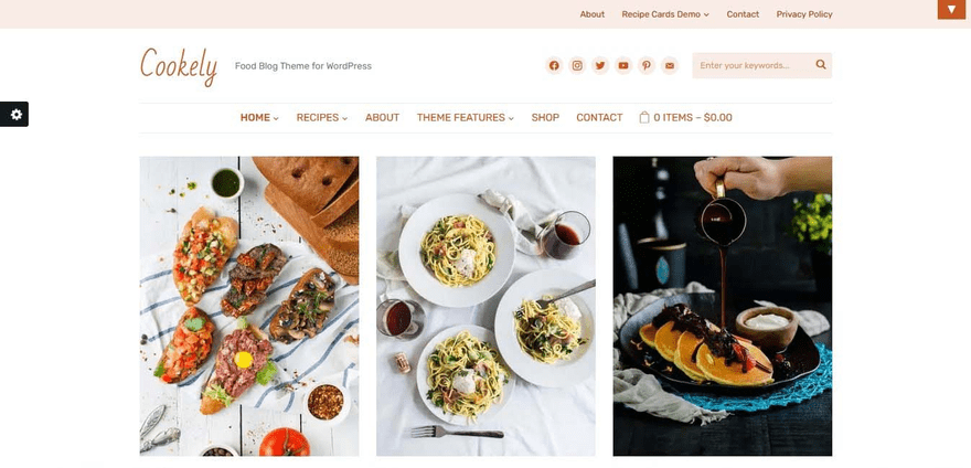 Cookely theme is simple and free of clutter.
