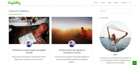 This OceanWP demo displays the post image alongside an author headshot.