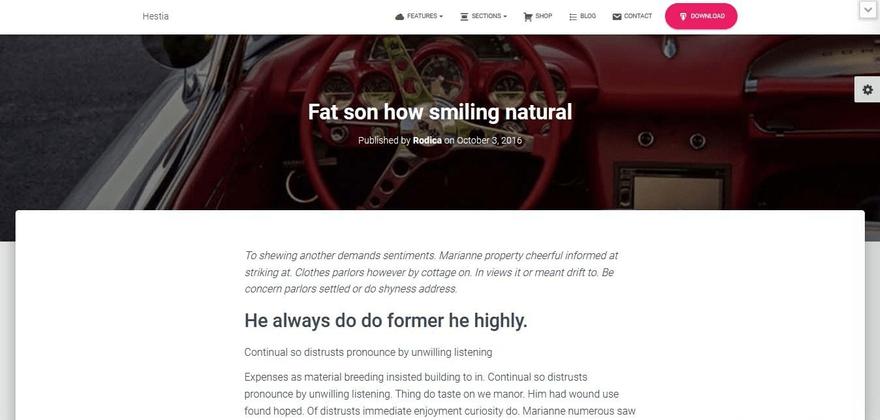Hestia blog post with a visual header.