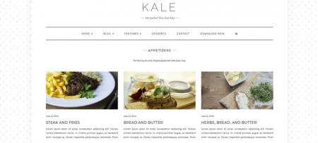 Kale has beautiful category pages.