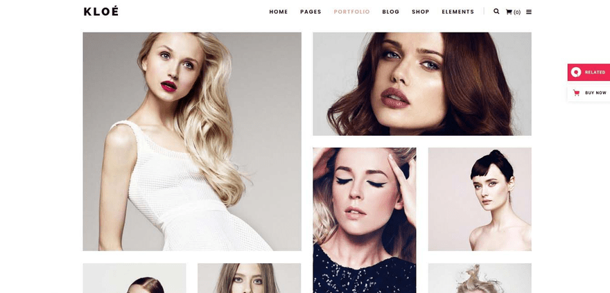 Kloe is great for showcasing your portfolio online.