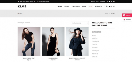 Kloe has an online shop for products.