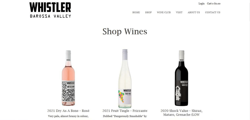 Whistler Wines showcases its stunning bottle designs in style