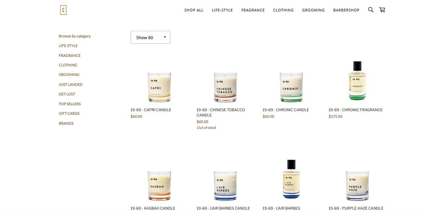 Curriculum's shop page allows you to select the number of products per page, for easy navigation.
