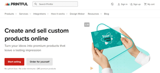 Design your own handbags with Printful