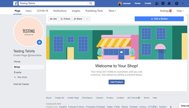 Setting up a Facebook shop