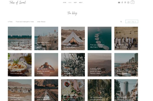 Wix Travel Blog Example