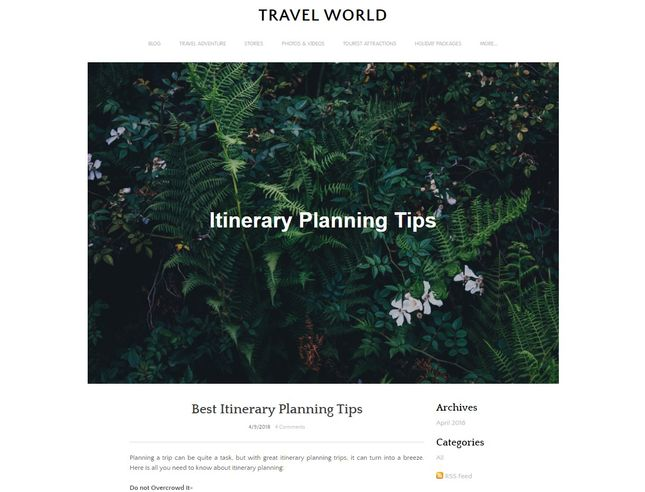 Weebly Travel Blog Example