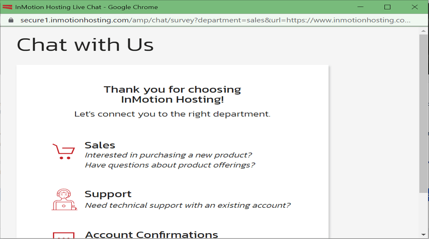 InMotion support