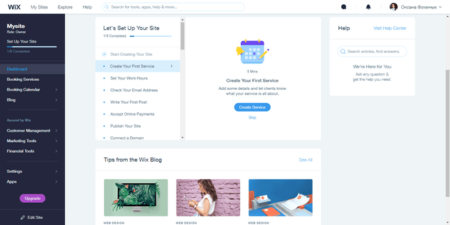 Wix helps you create a website without coding