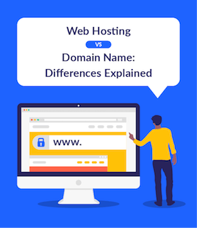Web Hosting vs Domain Name Differences Explained featured image