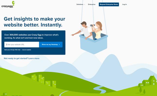 membership site analytics crazyegg