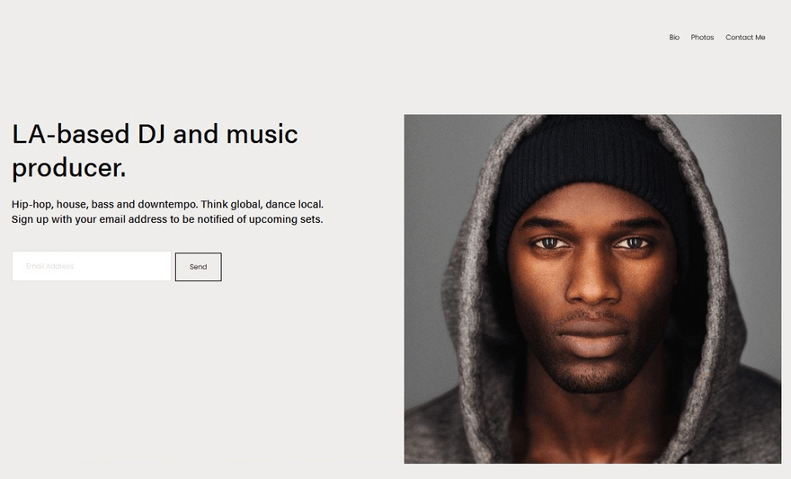 music website template by WBE