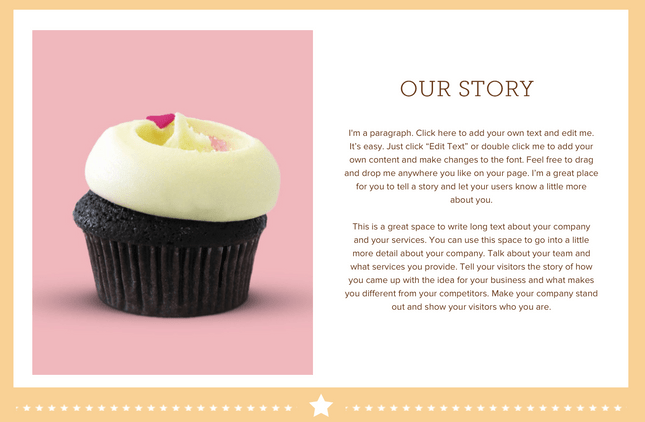 Cupcake shop template