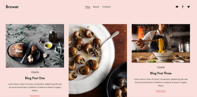 Brower website template