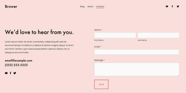 Brower website theme
