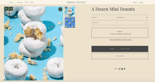 Foodie website template