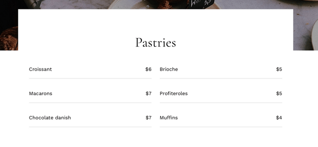 Bake Shop website template