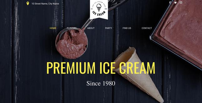 Ice Cream Shop website template