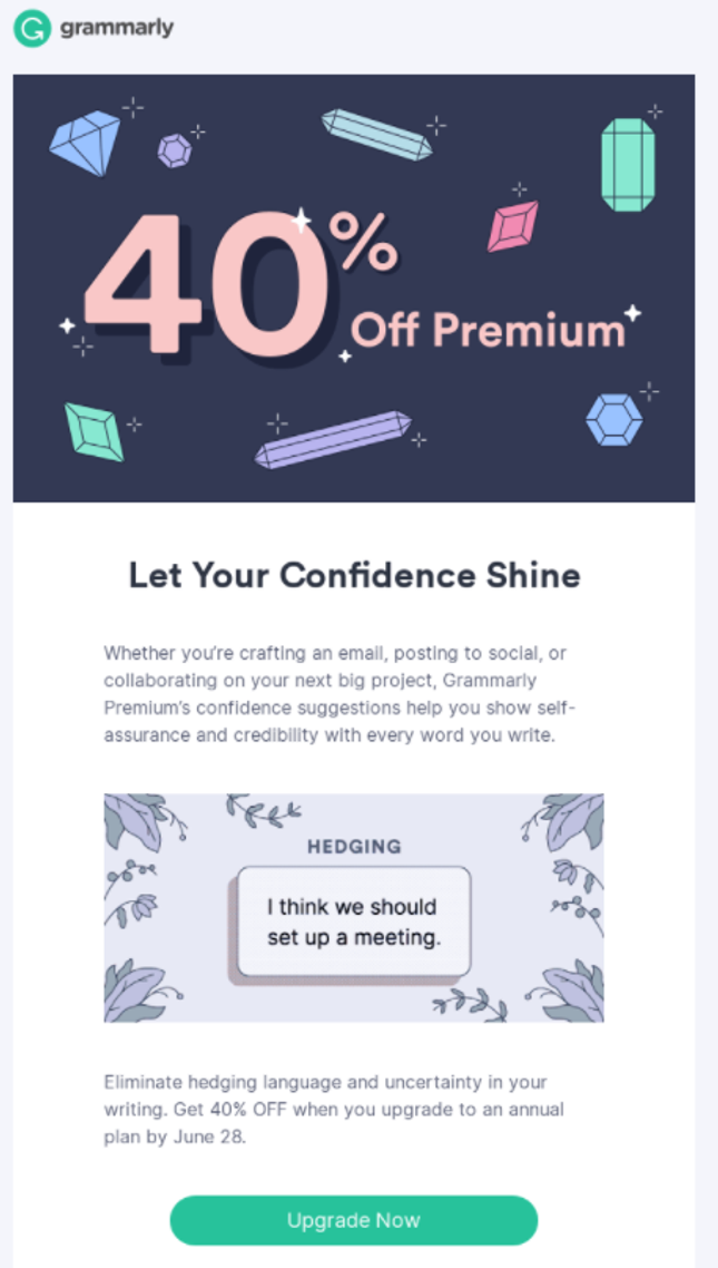Grammarly promotional
