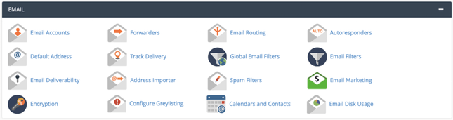 cPanel also controls aspects related to emails under Email Management.