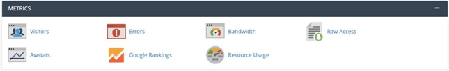 Check your website's analytics in the Metrics section of cPanel.