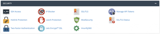 You can check and manage all the security settings in the Security section.