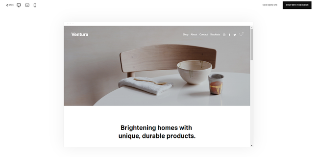Squarespace Template Preview