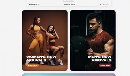 Fitness Website Shopify