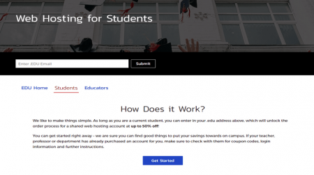 inmotion student hosting student discount