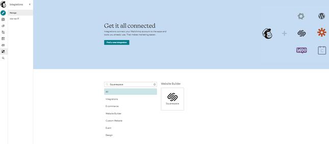 Mailchimp Integrate Website