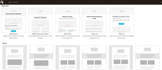 Mailchimp Template Layouts