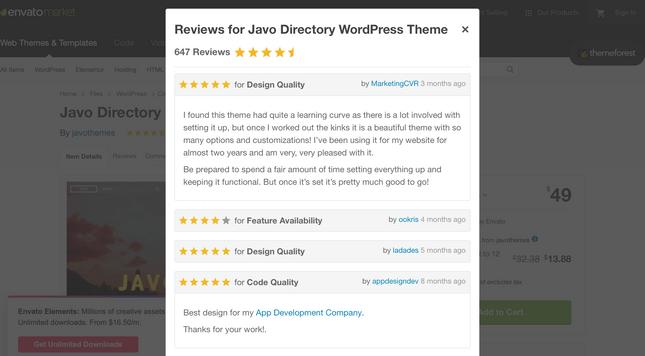 WordPress theme reviews