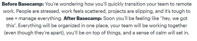 Basecamp Benefits