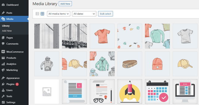 A CMS lets you add images to your website quickly and easily using a built-in media library.