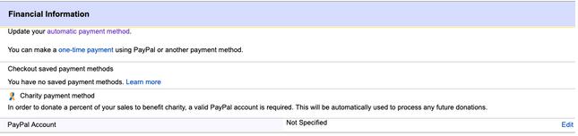 eBay payment methods