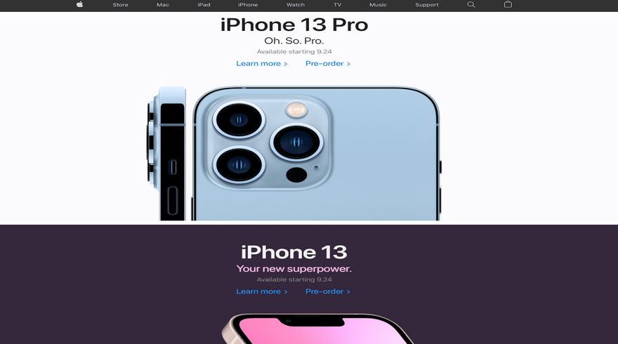 apple color background example