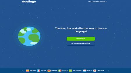 duolingo website illustration background example