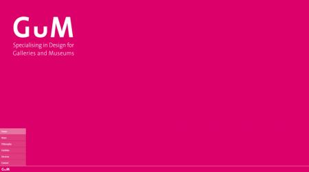 gum website color background example