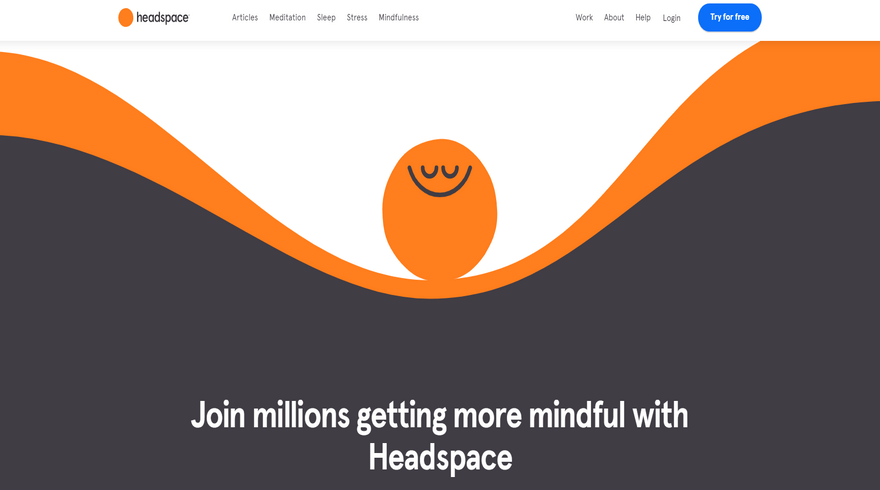 headspace website illustration background example