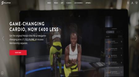 peloton video homepage fitness example