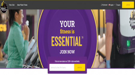 planet fitness video background example
