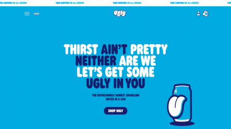 ugly drinks color background website example