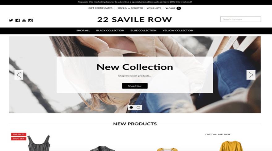 Savile Row Contemporary template